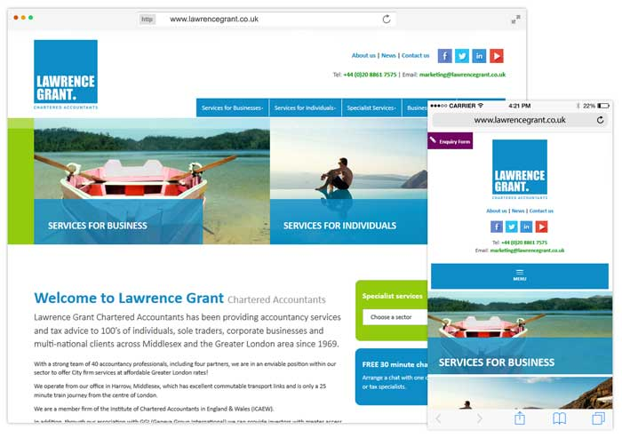 Lawrence Grant website example