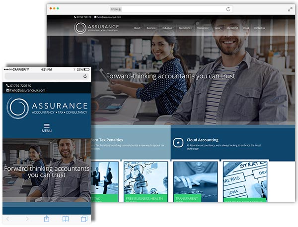 Assurance Accountancy website example