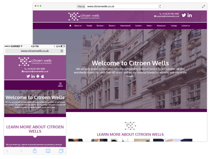 Citroen Wells website example