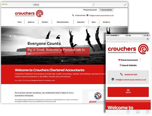Crouchers Chartered Accountants website example