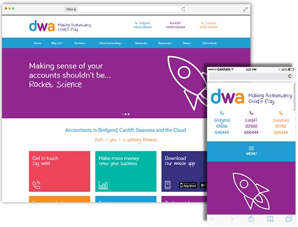 DWA website example