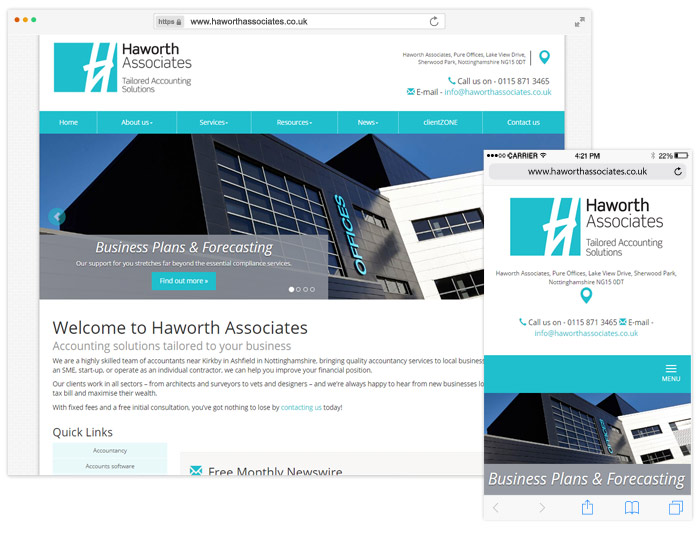 Haworth Associates website example