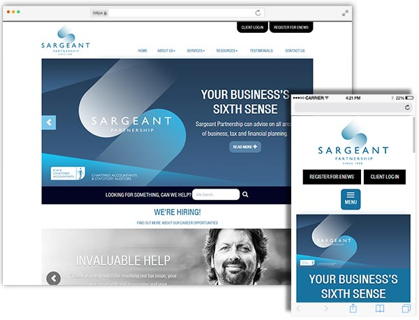 Sargeant Partnership website example